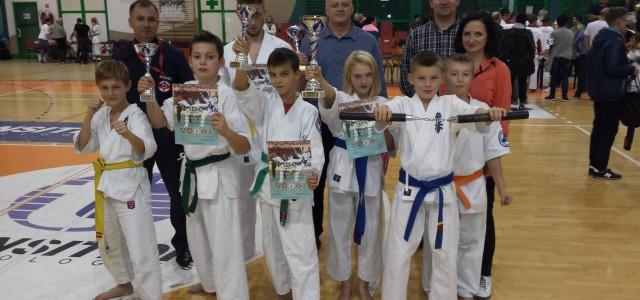 Czwórka zawodników Mieleckiego Klubu Karate Shinkyokushin SAIHA na podium w II Pucharze Podkarpacia w Krośnie w konkurencji Kum