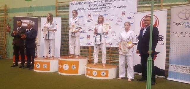 Amelia Kierepka Brązową Medalistką Mistrzostw Polski Juniorów do Lat 18 Shinkyokushin Polskiej Federacji Kyokushin Karate.